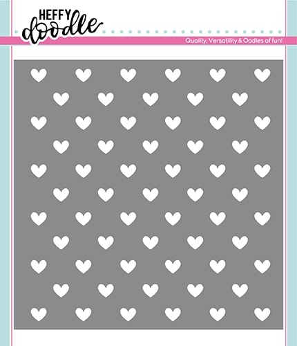 Heffy Doodle STEADY HEART Stencil hfd0164 Preview Image