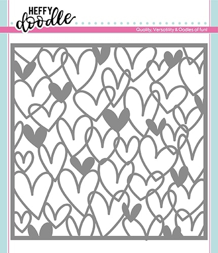 Heffy Doodle SCRIBBLE ON MY HEART Stencil hfd0165 Preview Image