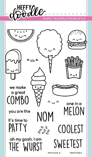 Heffy Doodle TREAT YO'SELF Clear Stamps hfd0166 Preview Image