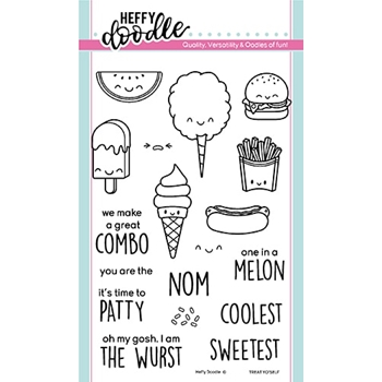 Heffy Doodle TREAT YO'SELF Clear Stamps hfd0166