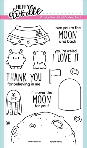 Heffy Doodle YOU'RE WEIRD Clear Stamps hfd0171 Preview Image