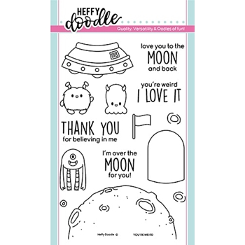 Heffy Doodle YOU'RE WEIRD Clear Stamps hfd0171