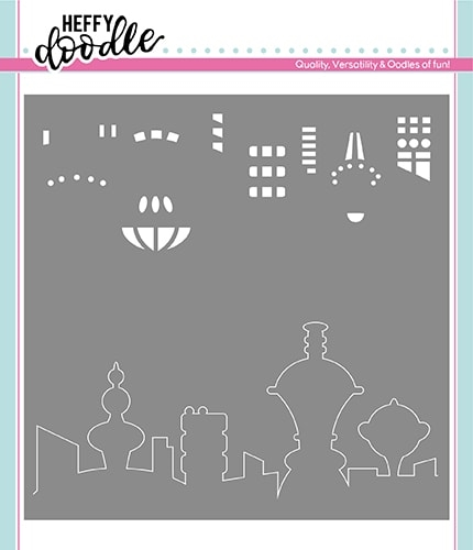 Heffy Doodle FUTURISTIC SKYLINE Stencil hfd0173 Preview Image