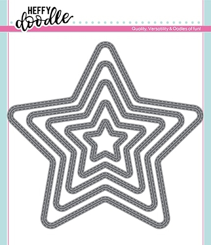 Heffy Doodle STITCHED STARS Dies hfd0174 Preview Image