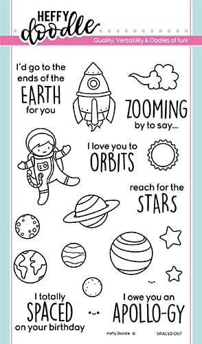 Heffy Doodle SPACED OUT Clear Stamps hfd0176 Preview Image