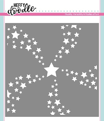 Heffy Doodle STAR SWIRL Stencil hfd0178 Preview Image