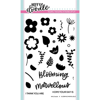Heffy Doodle BLOOMING MARVELLOUS Clear Stamps hfd0185