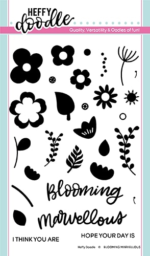 Heffy Doodle BLOOMING MARVELLOUS Clear Stamps hfd0185 zoom image