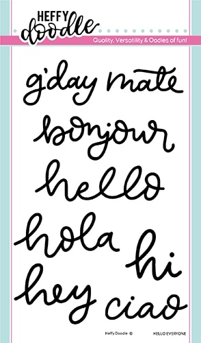 Heffy Doodle HELLO EVERYONE Clear Stamps hfd0189 zoom image