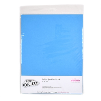 Heffy Doodle COOKIE MONSTER Coloured Cardstock hfd0207