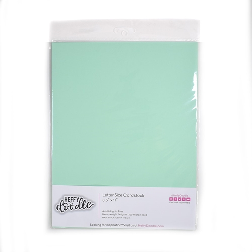 Heffy Doodle HINT OF MINT Coloured Cardstock hfd0209 Preview Image