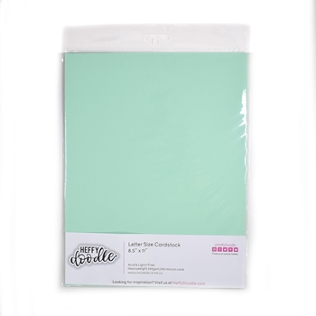Heffy Doodle HINT OF MINT Coloured Cardstock hfd0209