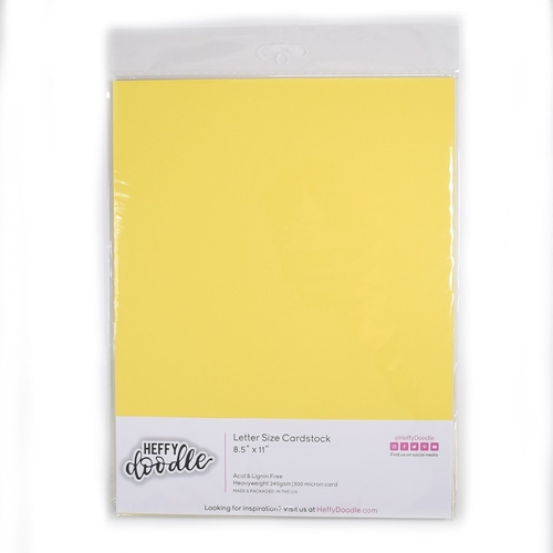 Heffy Doodle BANANA SPLIT Coloured Cardstock hfd0210 Preview Image