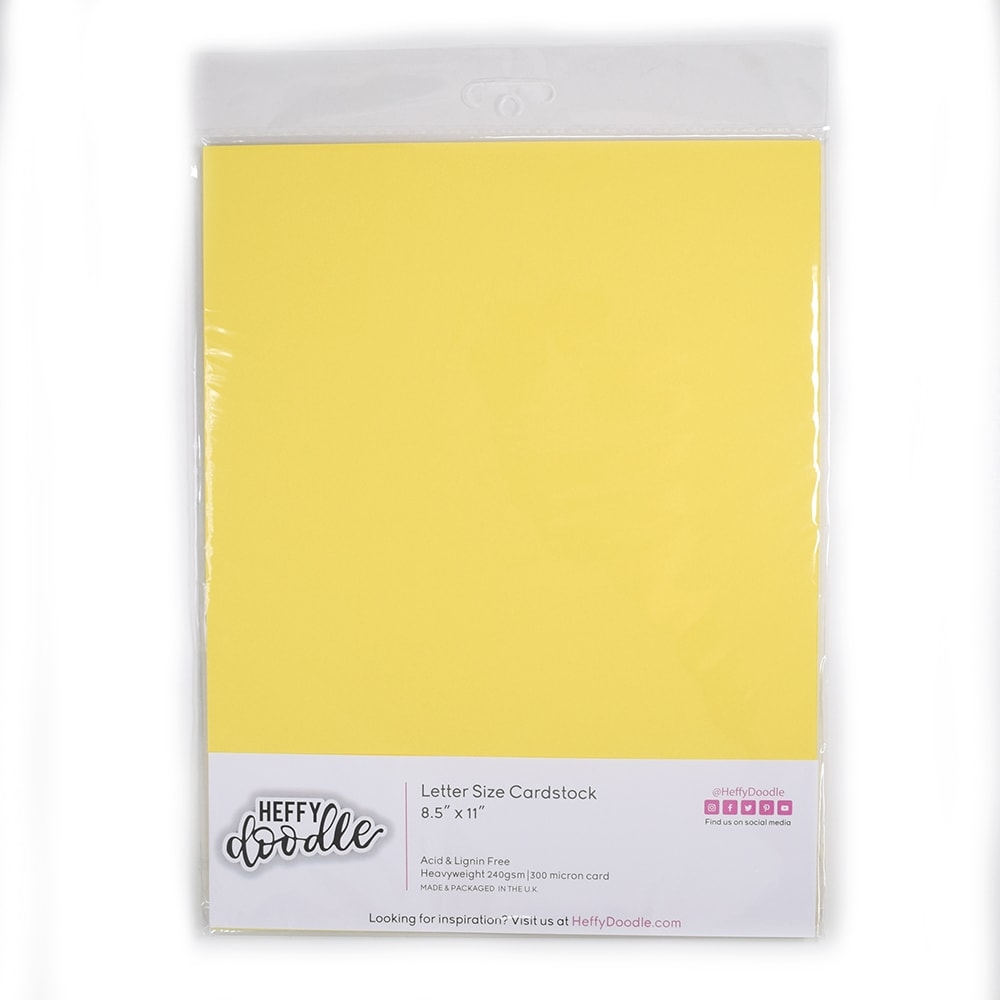 Heffy Doodle BANANA SPLIT Coloured Cardstock hfd0210 zoom image