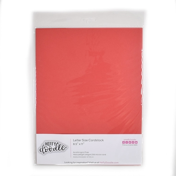 Heffy Doodle CHERRY ON TOP Coloured Cardstock hfd0211
