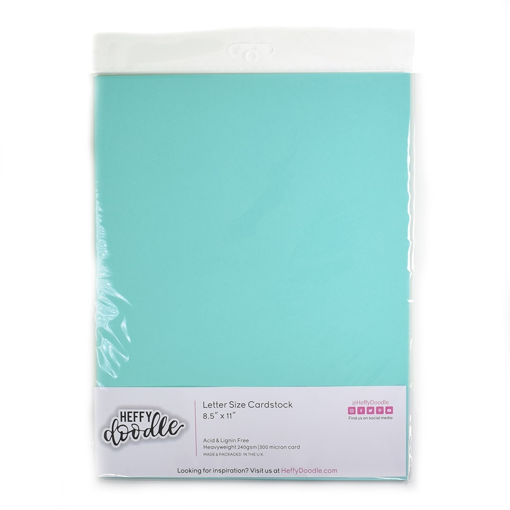 Heffy Doodle SIMPLY TEAL-ICIOUS Coloured Cardstock hfd0215 zoom image