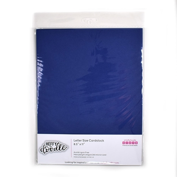 Heffy Doodle BLUEBERRY BLISS Coloured Cardstock hfd0216