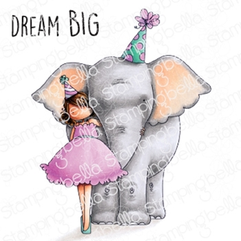 Stamping Bella Cling Stamp TINY TOWNIE WITH AN ELEPHANT eb823