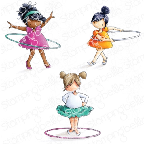 Stamping Bella Cling Stamp TINY TOWNIE HULA HOOPERS eb828 Preview Image