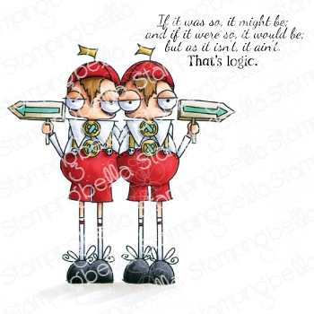 Stamping Bella Cling Stamp ODDBALLS TWEEDLE DEE AND TWEEDLE DUM eb831*