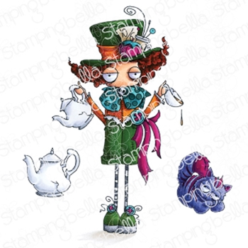 Stamping Bella Cling Stamp ODDBALL MAD HATTER eb832