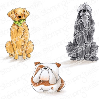 Stamping Bella Cling Stamp GOLDEN, WOLFHOUND AND BULLDOG eb843