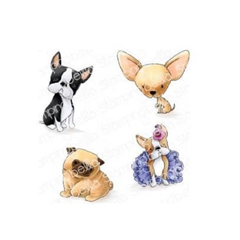 Stamping Bella Cling Stamp BOSTONS, PUG AND CHIHUAHUA eb845