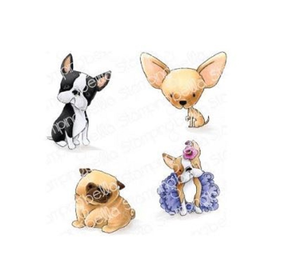 Stamping Bella Cling Stamp BOSTONS, PUG AND CHIHUAHUA eb845 zoom image