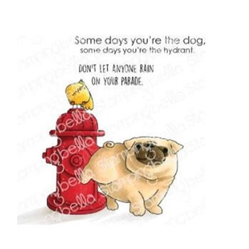 Stamping Bella Cling Stamp THE PUG AND THE HYDRANT eb848
