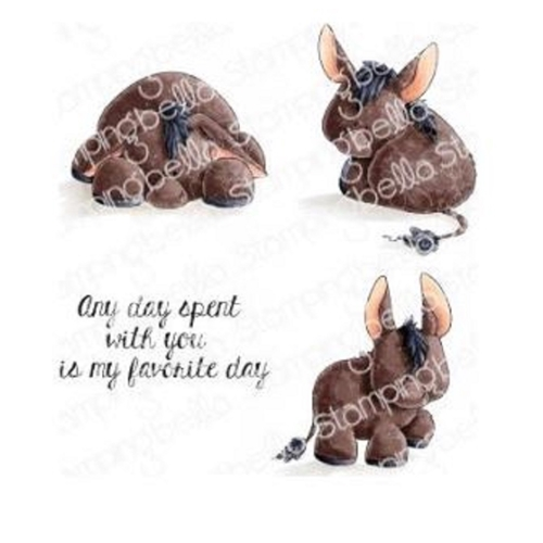 Stamping Bella Cling Stamp DONKEY TRIO STUFFIES eb847 Preview Image
