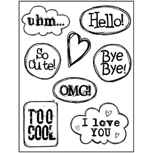 Stamperia HELLO CLOUDS Cling Stamp Set wtkcc93 Preview Image