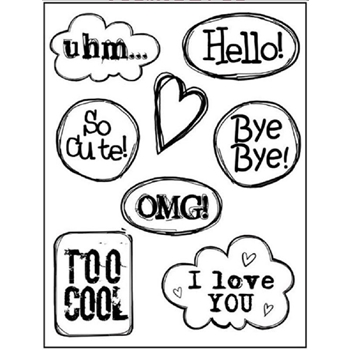 Stamperia HELLO CLOUDS Cling Stamp wtkcc93