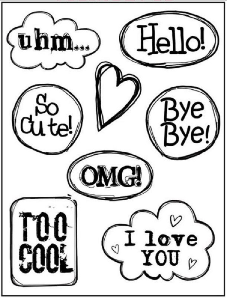 Stamperia HELLO CLOUDS Cling Stamp Set wtkcc93 zoom image
