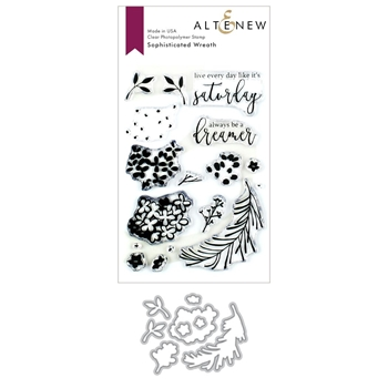 Altenew SOPHISTICATED WREATH Clear Stamp and Die Bundle ALT3390
