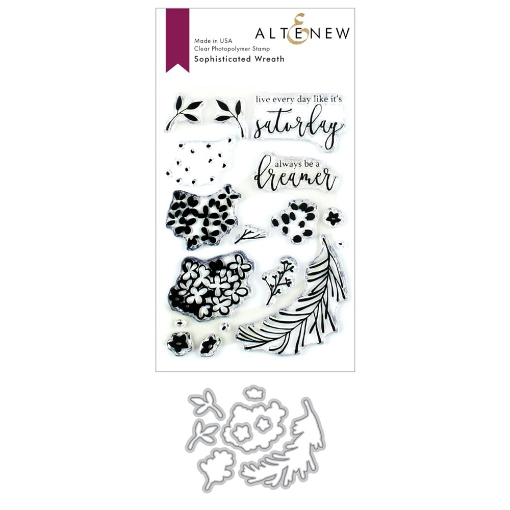 Altenew SOPHISTICATED WREATH Clear Stamp and Die Bundle ALT3390  zoom image