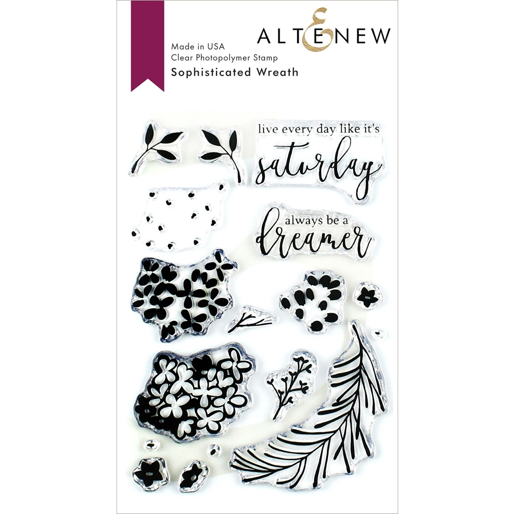 Altenew SOPHISTICATED WREATH Clear Stamps ALT3388 zoom image