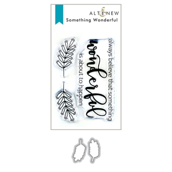 Altenew SOMETHING WONDERFUL Clear Stamp and Die Bundle ALT3387