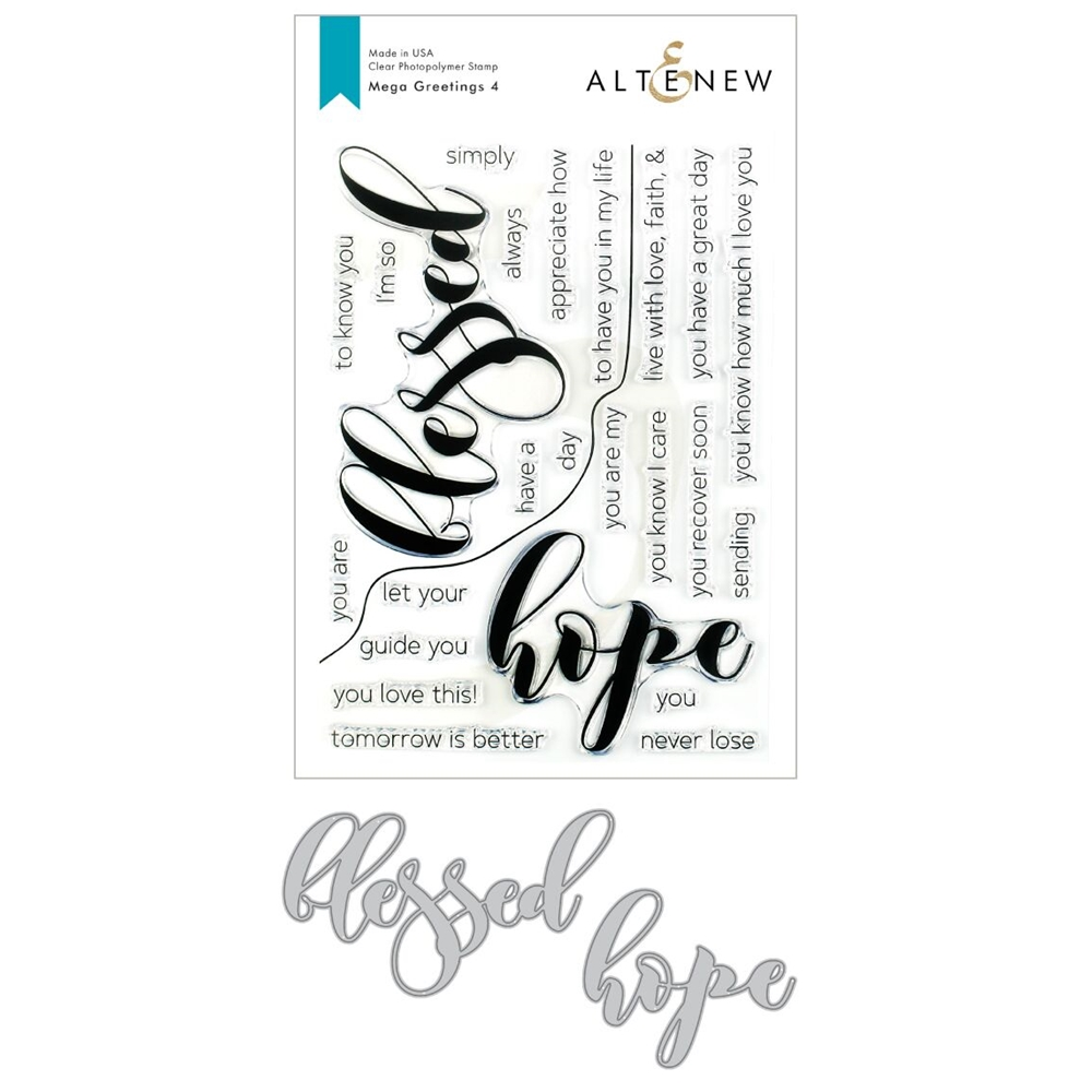Altenew MEGA GREETINGS 4 Clear Stamp and Die Bundle ALT3381 zoom image