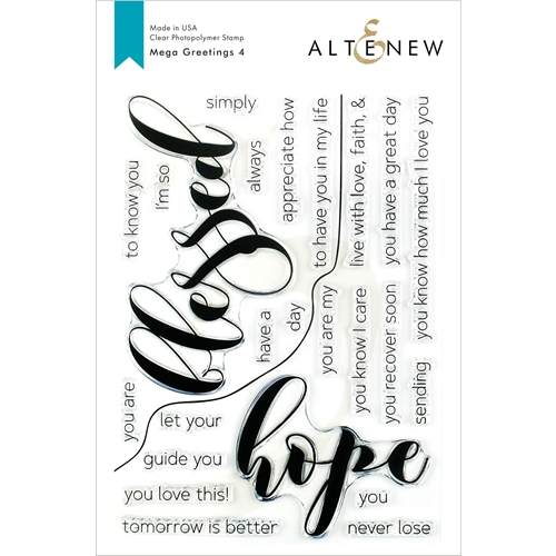 Altenew MEGA GREETINGS 4 Clear Stamps ALT3378 Preview Image