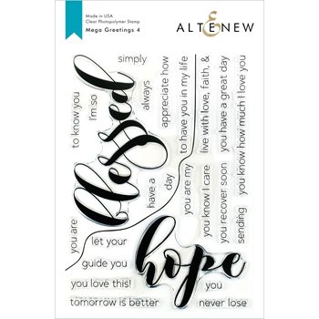 Altenew MEGA GREETINGS 4 Clear Stamps ALT3378