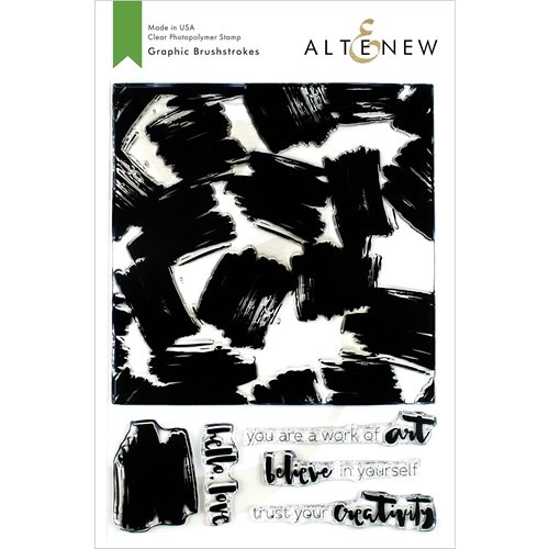 Altenew GRAPHIC BRUSHSTROKES Clear Stamps ALT3377 Preview Image