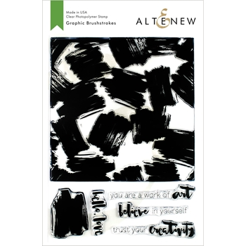 Altenew GRAPHIC BRUSHSTROKES Clear Stamps ALT3377