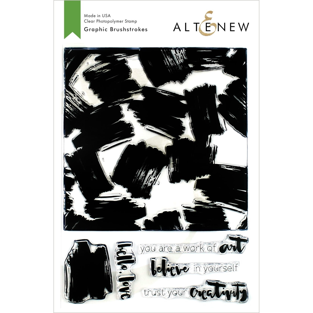 Altenew GRAPHIC BRUSHSTROKES Clear Stamps ALT3377 zoom image