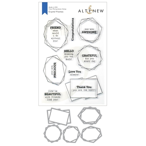 Altenew CRYSTAL FRAMES Clear Stamp and Die Bundle ALT3376 Preview Image