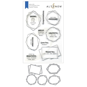 Altenew CRYSTAL FRAMES Clear Stamp and Die Bundle ALT3376