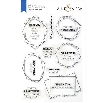 Altenew CRYSTAL FRAMES Clear Stamps ALT3374
