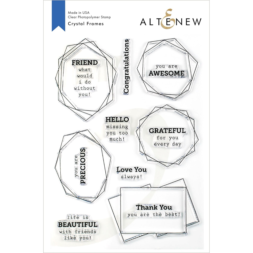 Altenew CRYSTAL FRAMES Clear Stamps ALT3374 zoom image