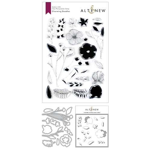Altenew CHARMING DOODLES Clear Stamp, Die and Stencil Bundle ALT3373 Preview Image