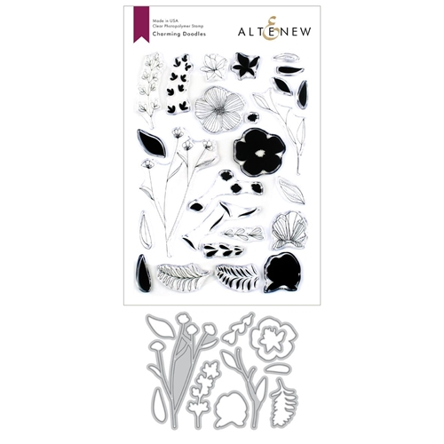 Altenew CHARMING DOODLES Clear Stamp and Die Bundle ALT3372 Preview Image