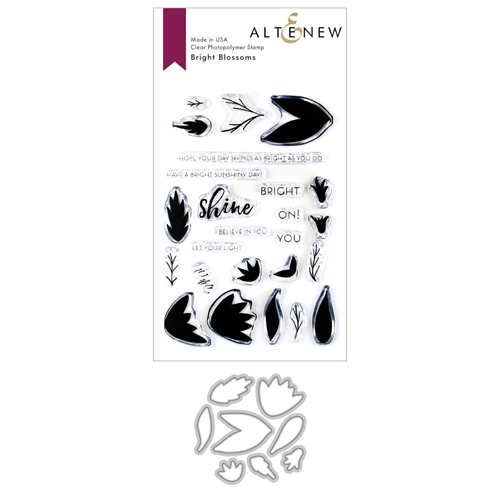 Altenew BRIGHT BLOSSOMS Clear Stamp and Die Bundle ALT3368 Preview Image